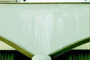 "Appearance of white dust or snow on the painted surface or whites that seem to ""run"" on the wall in the form of a waterfall"